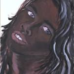 Sonja Kandels paintings Claudia Schiffer