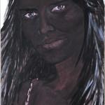 Sonja Kandels paintings Heidi Klum