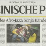 Sonja Kandels Band_Rheinische Post_Aug2014