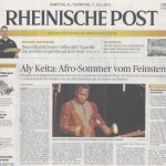 Sonja Kandels Band_Rheinische Post_Jul2013
