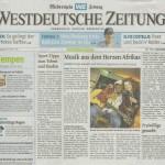 Sonja Kandels Band_Westdeutsche Zeitung_Aug2014